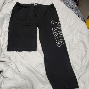 Pink sweatpants large